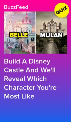 Build A Disney Castle And We'll Reveal Which Character You're Most Like Belle. Disney Princess Quiz Buzzfeed, Disney Buzzfeed, Disney Quiz, Disney Facts, Princess Disney, Disney Movies, Disney Characters, Buzzfeed Quiz Funny, Best Buzzfeed Quizzes