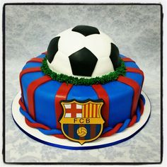 See 1 photo from 3 visitors to Rico Deli Cake. Barcelona Cake, Barcelona Party, Soccer Birthday Cakes, Soccer Cake, Bolo Real Madrid, Deli, Birthdays, Desserts, Food