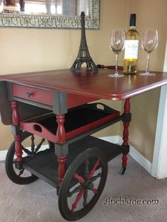 Image result for chalk paint tea cart