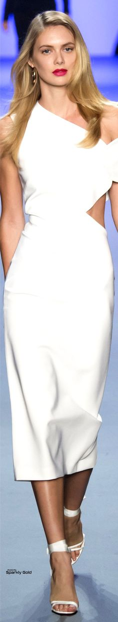 clothing ideas fashion white dress Cushnie et Ochs Spring 2017 Fashion Catwalk, Fashion 2017, Fashion Show, Fashion Design, Sweet Dress, White Fashion, A Boutique, Beautiful Dresses, Ready To Wear