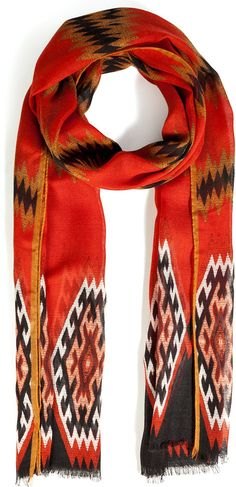 Etro Cashmere-Silk Blend Printed Scarf on shopstyle.com