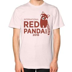 Red Panda Day Unisex T-Shirt (on man)