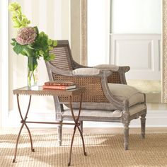 cane back chair from wisteria