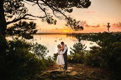 51 do por do sol casamento Verdejante em frente do porto de Cliffside auckland.JPG