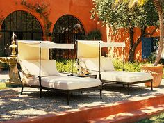 Andalusia Royal Canopy Chaise Lounges