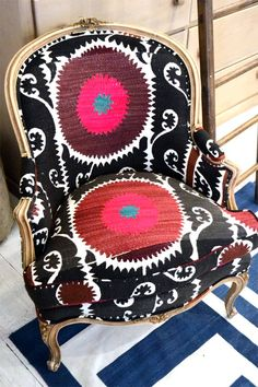 Timeless Trends Custom Furnishings is a full-service, interior design workroom… Funky Furniture, Home Furniture, Bohemian Furniture, Art Deco, Home And Deco, Cool Chairs, Upholstered Furniture, Eclectic Style, Chair Design