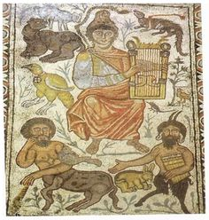 Orpheus mosaic, Israel, 6th? century?