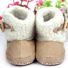 2014 For BabyFashion Unisex Cotton Boots Infant Anti Slip Snow Boots Baby Shoes Free&Drop Shipping