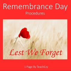 remembrance day procedure canada