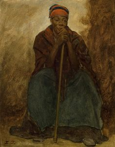 Portrait of an African American Woman by Eastman Johnson   Art Posters