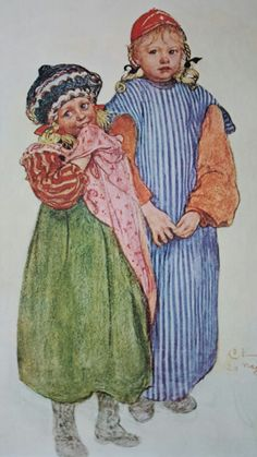 Carl Larsson Children Of The Carpenter Helberg 1906 Carl Larsson, Vintage Cards, Vintage Postcards, Amber Tree, Royal Academy Of Arts, Art Costume, Art Thou, Art Themes, Arts And Crafts Movement