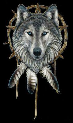 Wolf Dreamcatcher by Lisa Parker