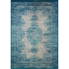 nuLOOM Transitional Vintage Abstract Blue Rug (5'3 x 7'7) - Overstock™ Shopping - Great Deals on Nuloom 5x8 - 6x9 Rugs