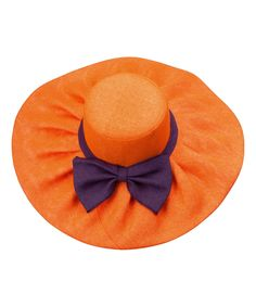 Look what I found on #zulily! Orange & Purple Bow Sunhat by Occasionally Made #zulilyfinds