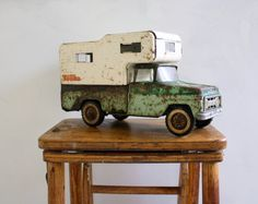 Vintage Tonka Pick Up Truck with Camper