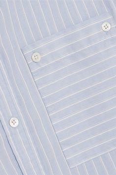 FRAME - Boyfriend Striped Cotton-poplin Shirt - Sky blue - x small