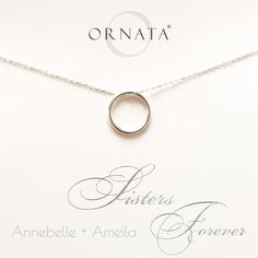 """Sisters Forever"" Personalized Sterling Silver Necklace 