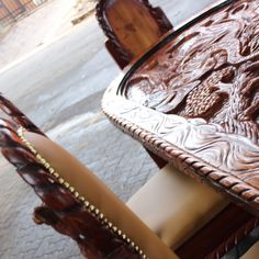 African Furniture, Table and chairs, wood, hand crafted, recycled wood, African, Custom made, Furniture, rustic, unique