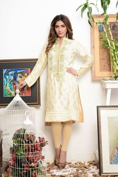 Silk/Cotton Embroidered Kurti. Worldwide shipping available