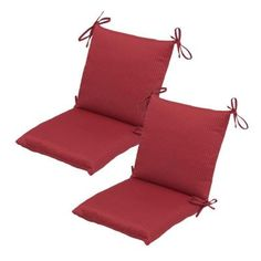 Hampton Bay Chili Solid Mid Back Outdoor Chair Cushion The Home Depot