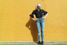 Jeans, Fashion, Moda, Fashion Styles, Gin, Fashion Illustrations, Jeans Pants, Green Jeans, Blue Jeans