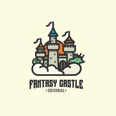 Fantasy Castle editorial #dragon #castle #kids #book #happy #design #designer…