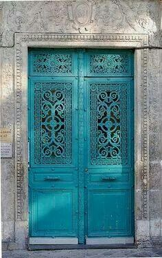 Beautiful tourquois doors