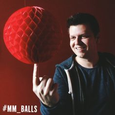 "#mm_balls competition: mark-maker* Dean ""White men can jump"" http://creativityneverstops.com How would you spin #mm_balls? Show us & you can WIN! #giveaway"