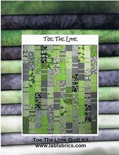 TOE THE LIME Quilt Kit w/ Hand Dyed Fabrics - Just Beautiful!! & FREE SHIPPING