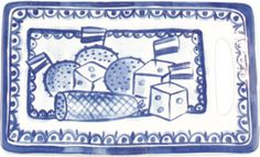 Delft blue cheese board. :) So dutch! By the company Blond Amsterdam