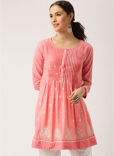 a34de3f6949 Buy IMARA Pink Embroidered Tunic Online - 4644983 - Jabong