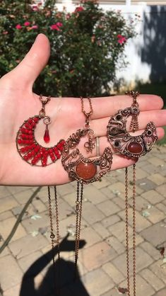 These are some of the moons I have available that I think would be perfect for fall!!   Visit  my Website to see all handmade jewelry I have available to Purchase 🌙