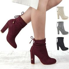 Details about New Womens Smart Block Heel Stretch Upper Ladies Pull On Chelsea Ankle Boots Verlobung 💍 💍 Block Heel Ankle Boots, High Heel Boots, Heeled Boots, Shoe Boots, Burgundy Boots, Heel Stretch, Chelsea Ankle Boots, Fashion Heels, Cute Shoes