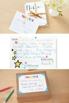 Teacher Appreciation Day is just around the corner! Wondering what your child should write in a teacher thank you card? We've assembled the suggestions to make thank you note writing easy and enjoyable for kids of all ages.