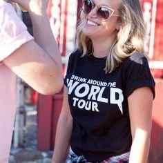 Drink Around the World Tour Tee Black