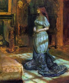 The air itself is filled with monsters... - Madeleine undressing - John Everett Millais