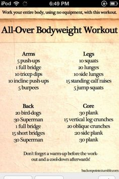 An ab workout set to Summer Love by Justin Timberlake. Other workouts based on certain songs from The Slender Student.