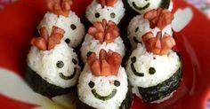 お花のかんむりをかぶった可愛いおにぎりです☆ウインナーつきでおかずもいらないので、手軽に食べるお弁当に最適ですよ**