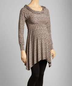 Take a look at this Fudge Leaves Shirred Maternity Tunic on zulily today!