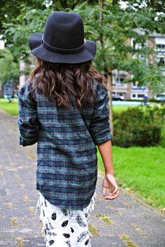 Life With Faye Blog: OUTFIT - Plaid & Feathers