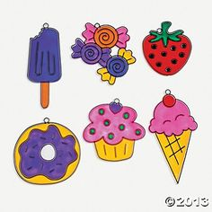 Sweet Treats Sun Catchers, Decoration Crafts, Crafts for Kids, Craft & Hobby Supplies - Oriental Trading