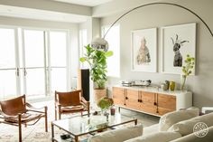 """An Airy Home Full of Worldly Treasures - """"The space was totally different before the redesign: I changed the layout, re-did the master bathroom completely, added a lot of custom build-ins (like the bench, floor to ceiling closet along the corridor, wine cellar…) and changed the floors!"""" - @Homepolish San Francisco"""