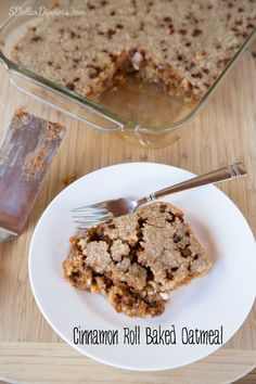 Cinnamon Roll Baked Oatmeal ~ NEW 31 Days of Breakfast Recipes