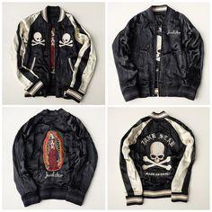 JUNKSTAR Rudo Rock Punk Skeleton A la ROEN Praying Maria Zen Simple Black and White Sukajan Jacket - Japan Lover Me Store