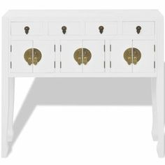Union Rustic Jeremiah Console Table | Wayfair.co.uk Consoles, Style Chinois, Solid Wood Sideboard, White Sideboard, Chinese Cabinet, Table Haute, Console Cabinet, White Side Tables, Asian Design
