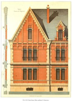 Architecture - architectural drawings-art. — Details of Victorian Architecture. (3)