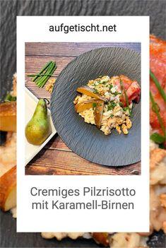 Ein cremiges Pilzrisotto mit karamellisierten Birnen und knusprigen Speckstreifen? Yummy! Wir sind ja bekannte Risotto Tiger und lieben es uns cremige Risotto Rezepte im Dutch Oven zuzubereiten…manchmal als Beilage, manchmal auch einfach als Hauptgericht. Das Pilzrisotto mit den Karamellbirnen und mit dem Speck verlangt aber gar keine weiteren Zutaten, da hat man ratz-fatz ein mega leckeres Hauptgericht beisammen. Das Risotto ist nicht nur cremig sondern auch wirklich sättigend. Bbq Grill, Grilling, Bacon, Kitchen, Foodblogger, Tiger, Recipes, Party Ideas, Inspiration