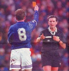 #redcard #PaulGascoigne #referee  http://www.2mygame.com/FIFA15Coins/PS4.html