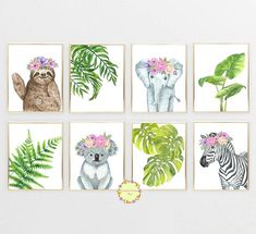 Safari Animals Nursery Prints, Nursery Animals Art, Jungle Nursery Decor, Safari Nursery Wall Art, G Safari Theme Nursery, Jungle Nursery, Animal Nursery, Nursery Prints, Nursery Wall Art, Nursery Decor, Room Decor, Nursery Ideas, Art Decor