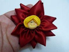 Flor Liston Satinado, Flor de Fitas de Cetim Passo a Passo, Manualidades la hormiga - YouTube